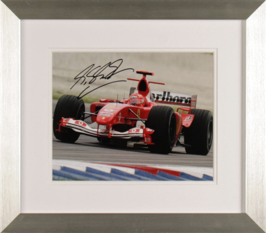 Michael Schumacher In Ferrari Signed Photo Display
