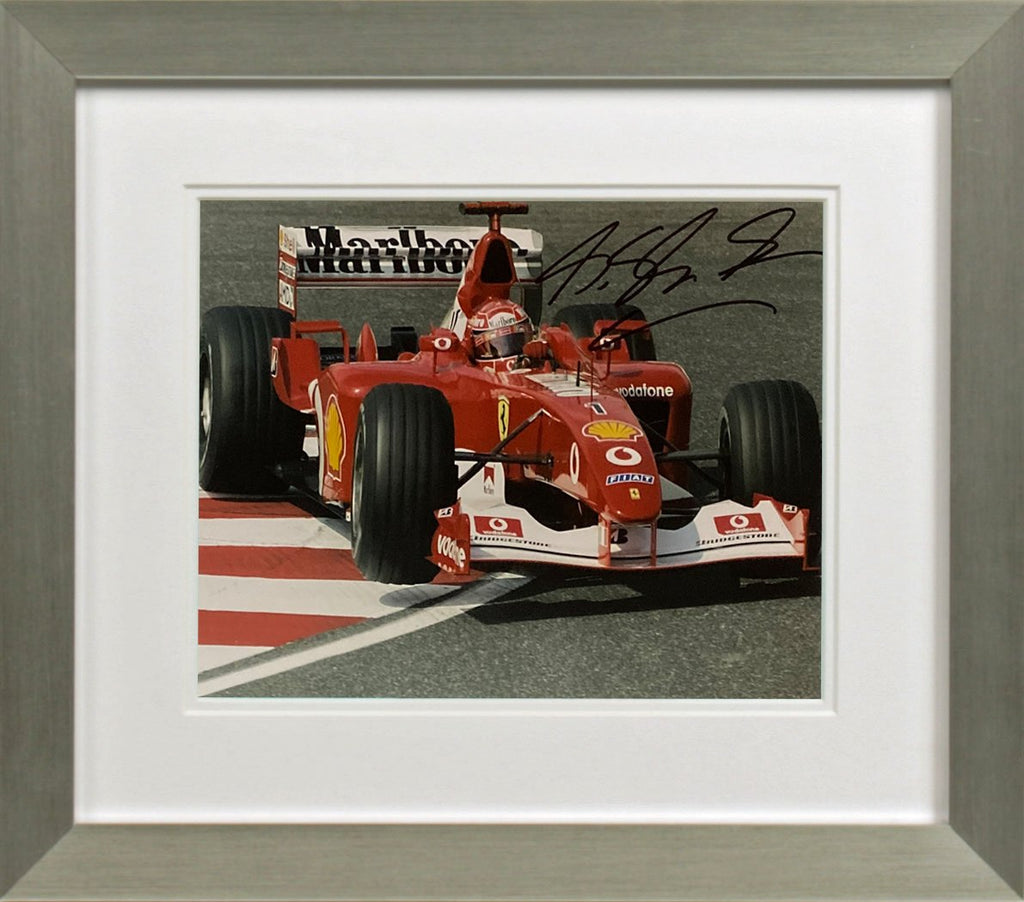 Michael Schumacher Cornering Photo Display