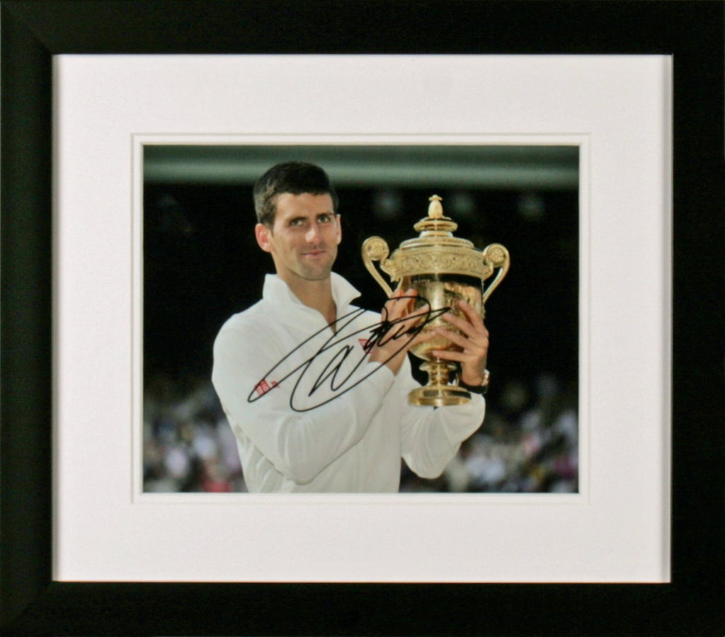 Novak Djokovic Holding Trophy Photo Display