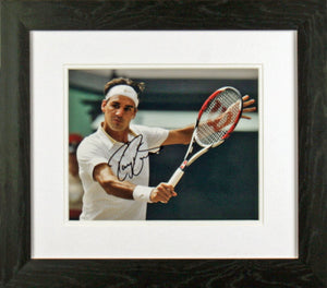 Roger Federer In Action Signed Photo Display