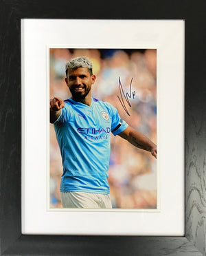 Sergio Aguero Pointing Photo Display