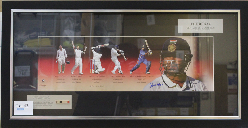 Sachin Tendulkar Platinum Display