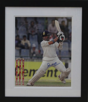 Sachin Tendulkar Signed Photo Display