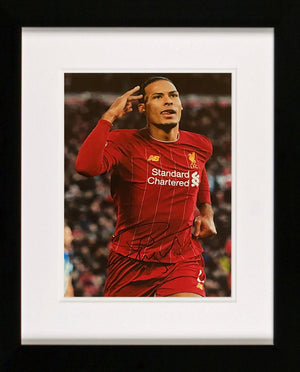 Virgil Van Dijk Saluting Photo Display