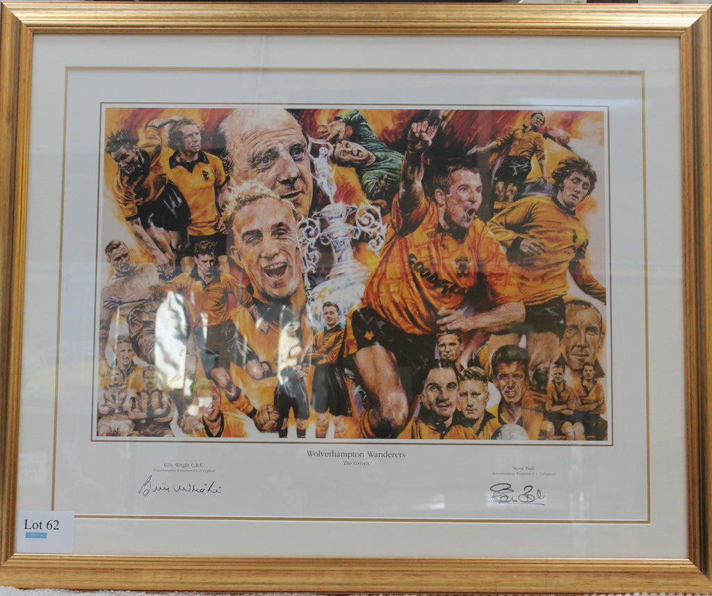 Wolverhampton Wanderers Billy Wright Steve Bull Display