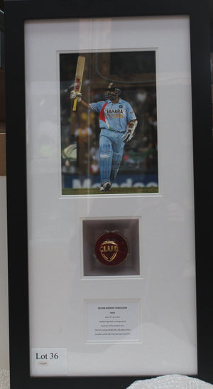 Sachin Tendulkar Cricket Ball Display