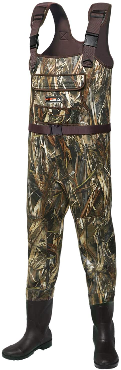 Camo Fishing Waders for Men with Boots Neoprene Chest Waders