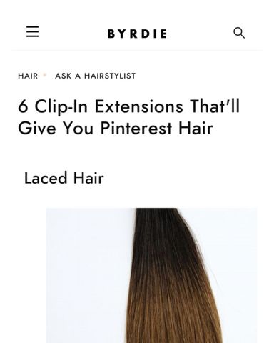Featured: Laced Hair in Byrdie