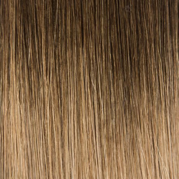 Laced Hair InterLaced Tape-In Hair Extensions Ombré #3/8 (Spiced Cider)