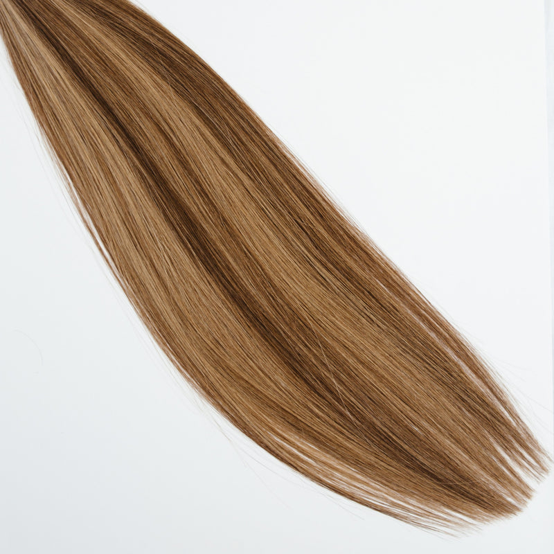 Laced Hair Hand Tied Weft Extensions Dimensional #4/8 (Cappuccino)