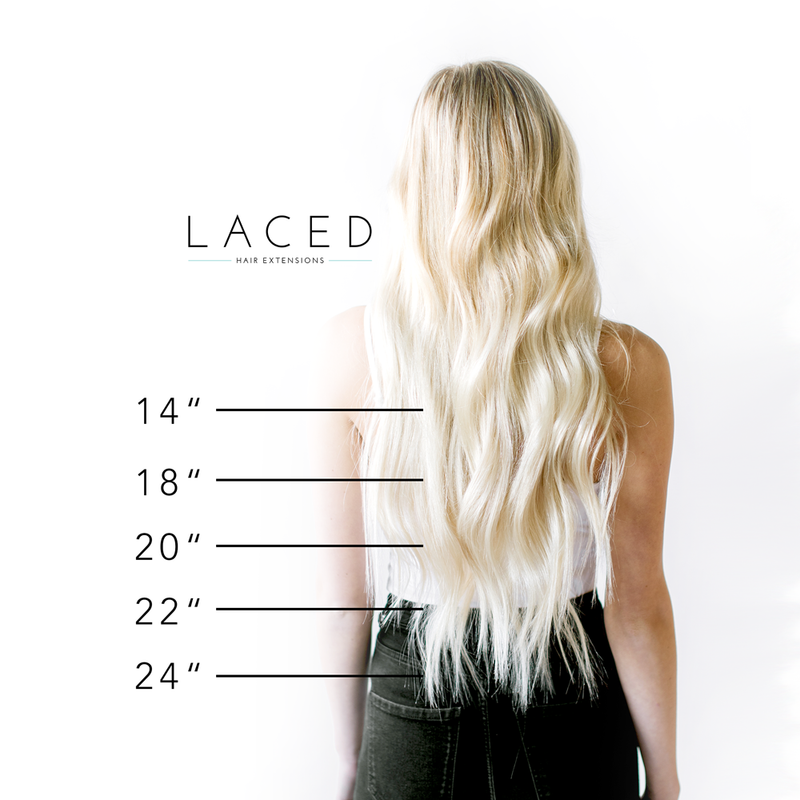 Laced Hair Machine Sewn Weft Extensions Dimensional #14/24