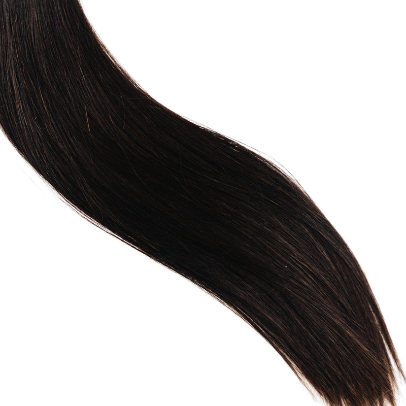 Laced Hair Hand Tied Weft Extensions #1B (Dark Roast)