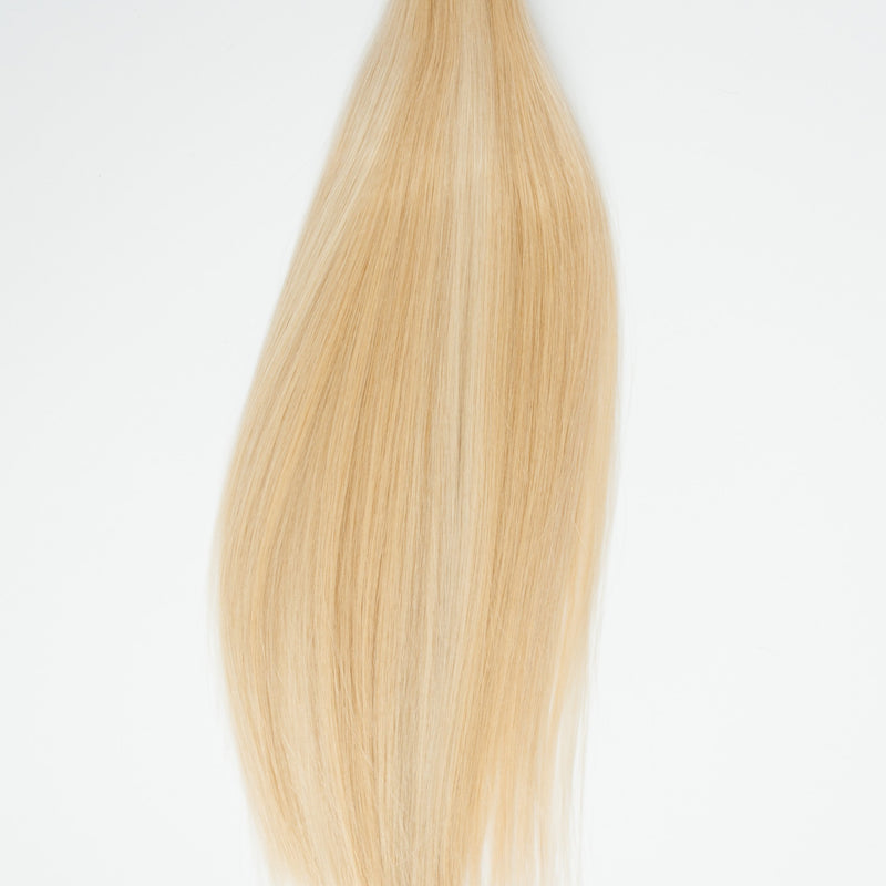 Laced Hair Hand Tied Weft Extensions Dimensional #16/22 (Buttercream)
