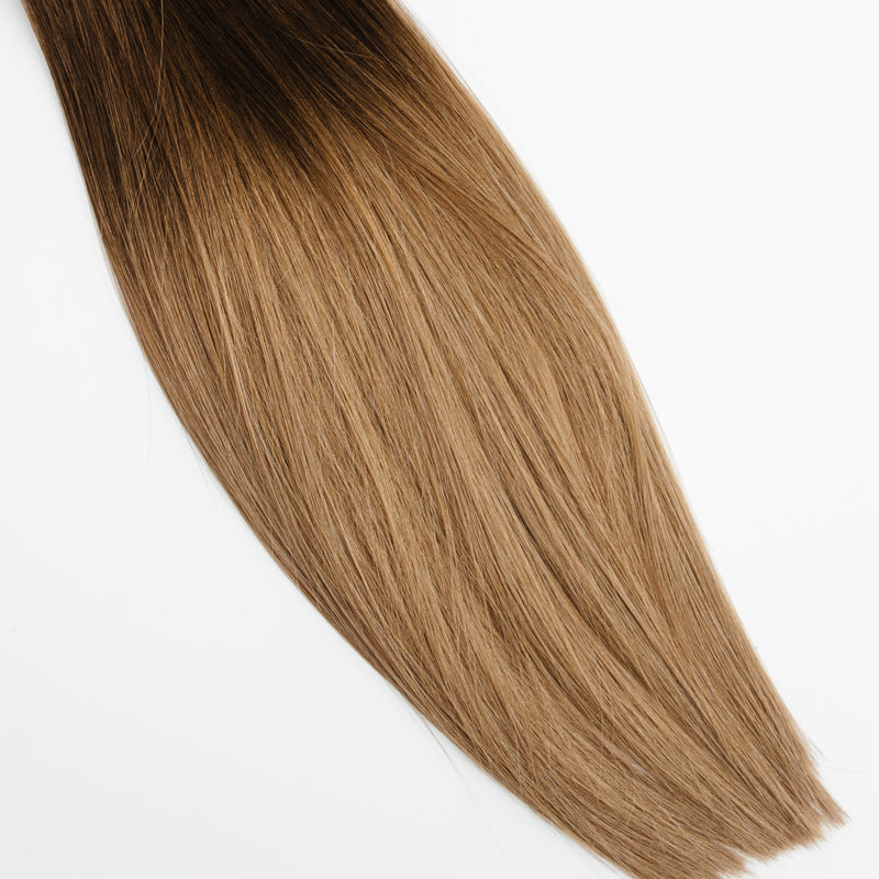 Laced Hair Keratin Bond Extensions Ombré  #3/8 (Spiced Cider)