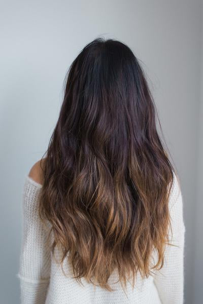 Laced Hair Machine Sewn Weft Extensions Ombré 1B/5 (Caramel Latte)