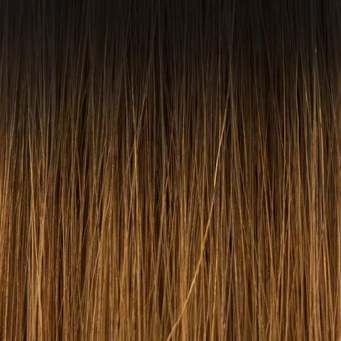 Laced Hair Hand Tied Weft Extensions Ombré #1B/5 (Caramel Latte)