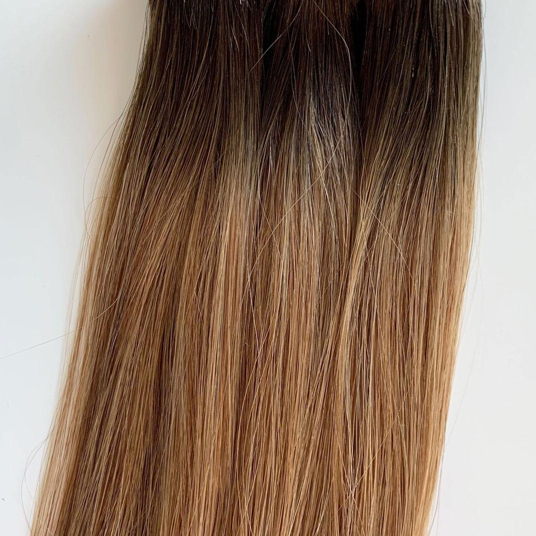 Laced Hair Hand Tied Weft Extensions Rooted #2A/6
