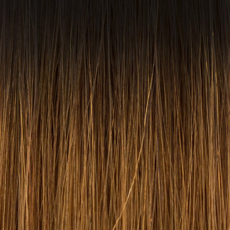 Laced Hair Tape-In Extensions Ombré #1B/5 (Caramel Latte)