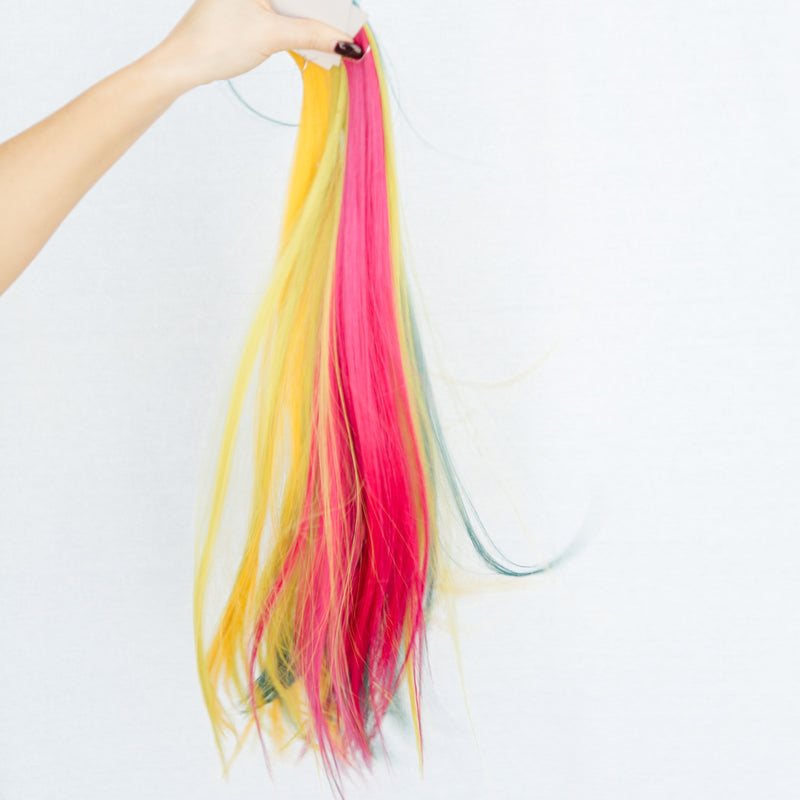 Laced Hair Tape-In Extensions Fuchsia