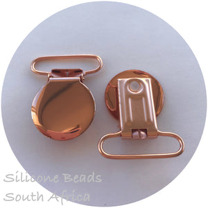 Rose Gold-Round Metal Dummy Clips