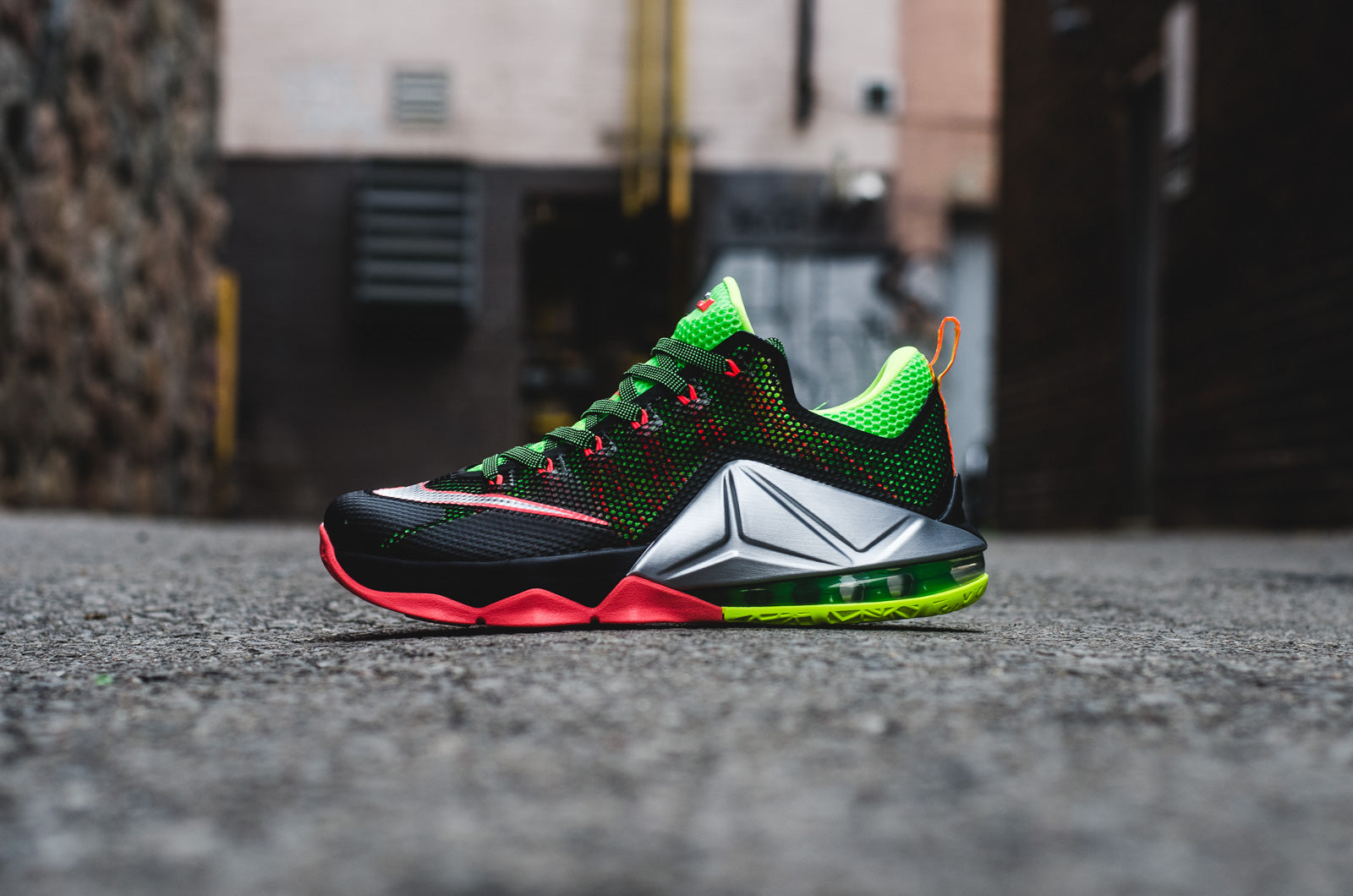 "26504f60a2d7 This weeks basketball offering from Nike comes in the form of the Lebron 12  Low ""Remix"" in a black"