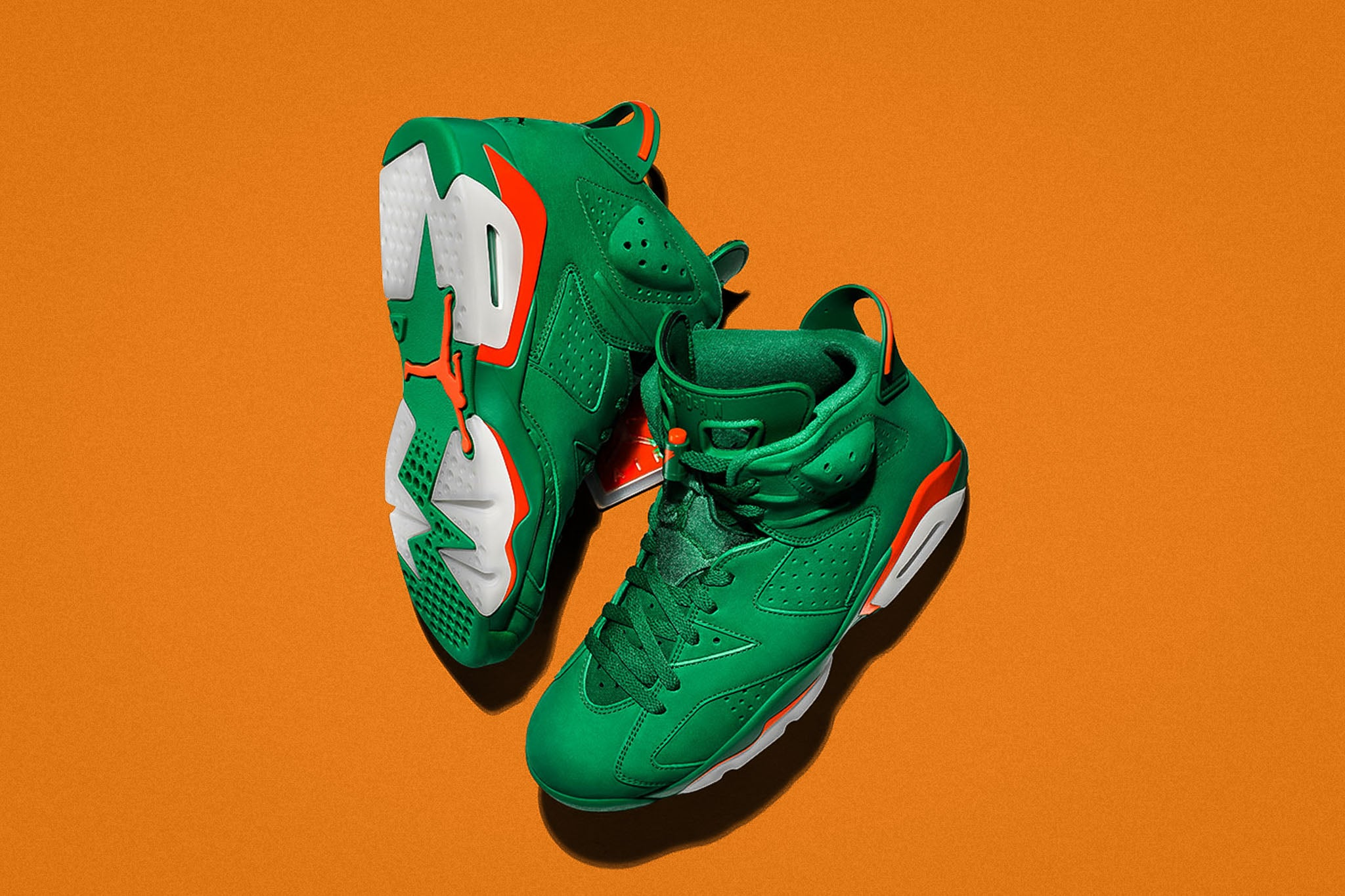 5f8b5037f6c8 Ramping up the releases of Gatorade-themed Jordans is another classic  Jumpman silhouette that goes grinch-like green with a supple suede  treatment. The Air ...