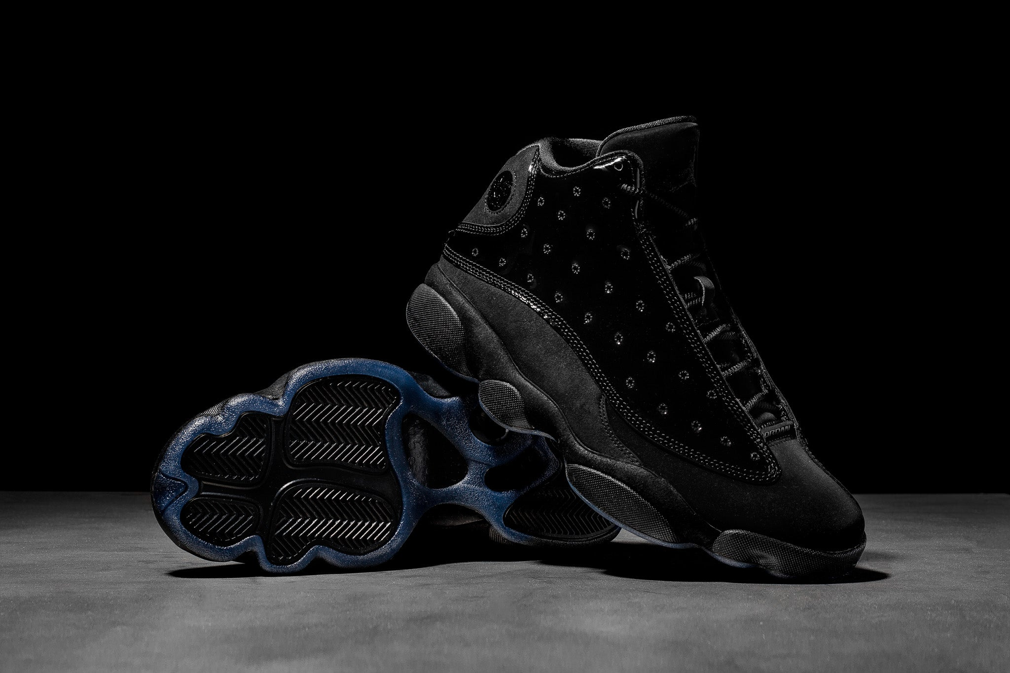 """huge selection of bb57d 706c2 The Air Jordan 13 Retro """"Cap   Gown"""" helps our fellow graduates complete  the ceremonial fit with black patent leather perforated overlays placed  over a ..."""