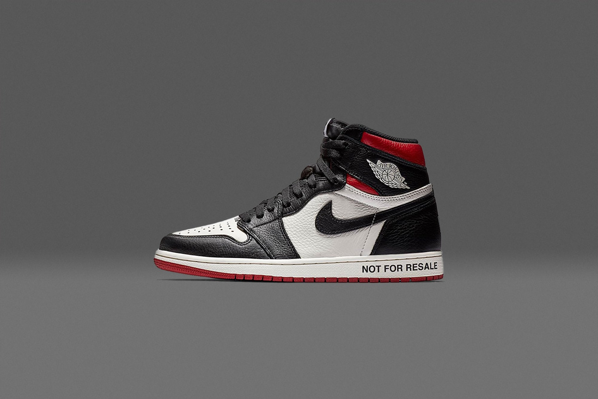 "buy popular f5389 df6e1 This might just be the most self-aware Air Jordan in the game. The Air  Jordan 1 Retro High OG ""Not For Resale"" has no love for the bots or clout  hoppers ..."