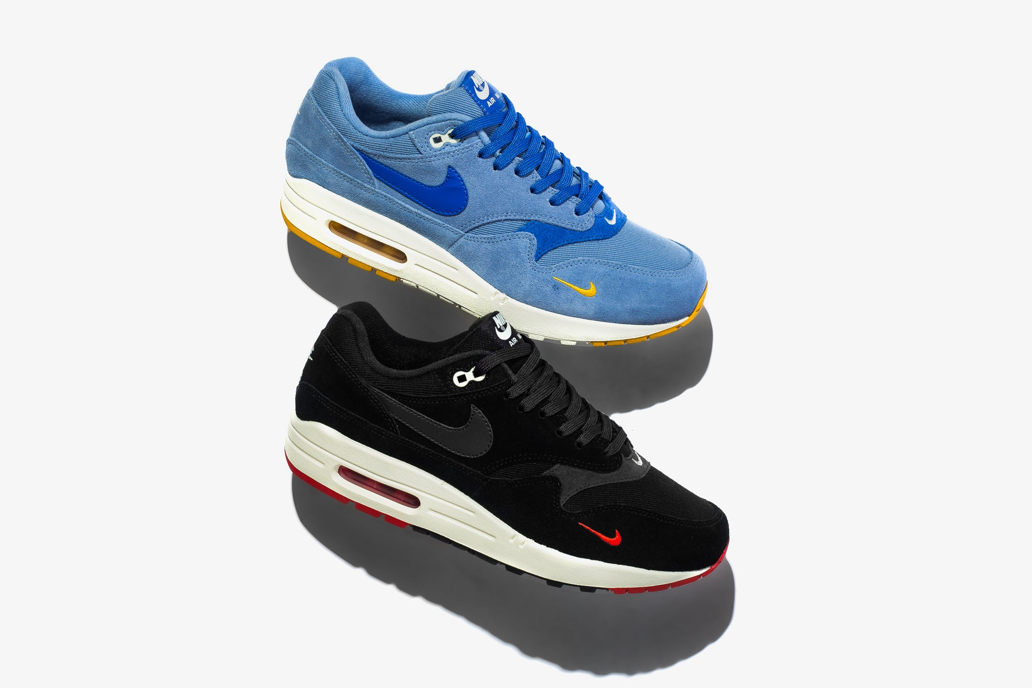 9ffb9e073e The Air Max 1 Premium combines leather and textiles to form the upper with  the classic mini swoosh ...