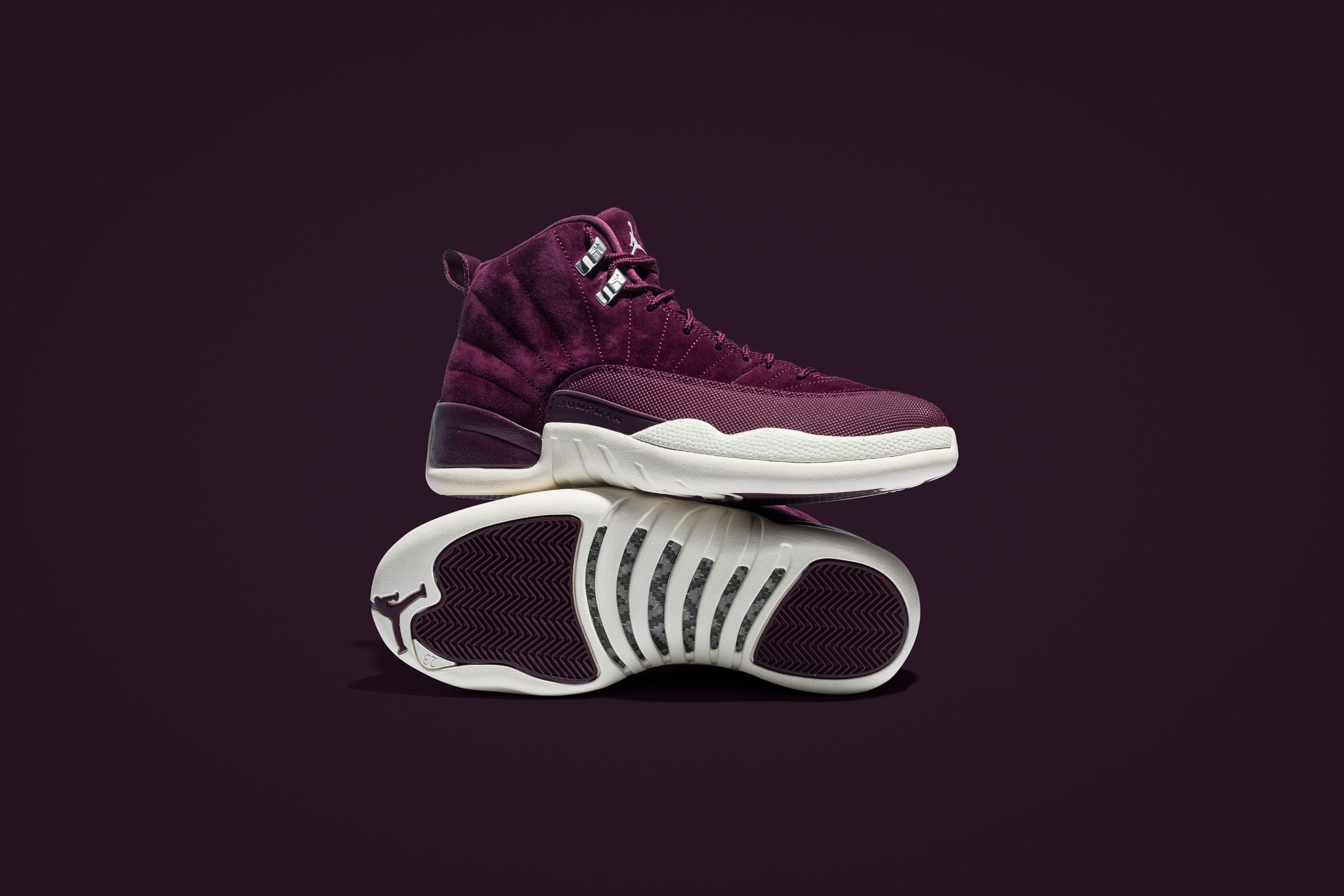 hot sale online c26bf cf25e ... coupon code for the air jordan 12 retro bordeaux adds a tasteful wine  coloured suede upper