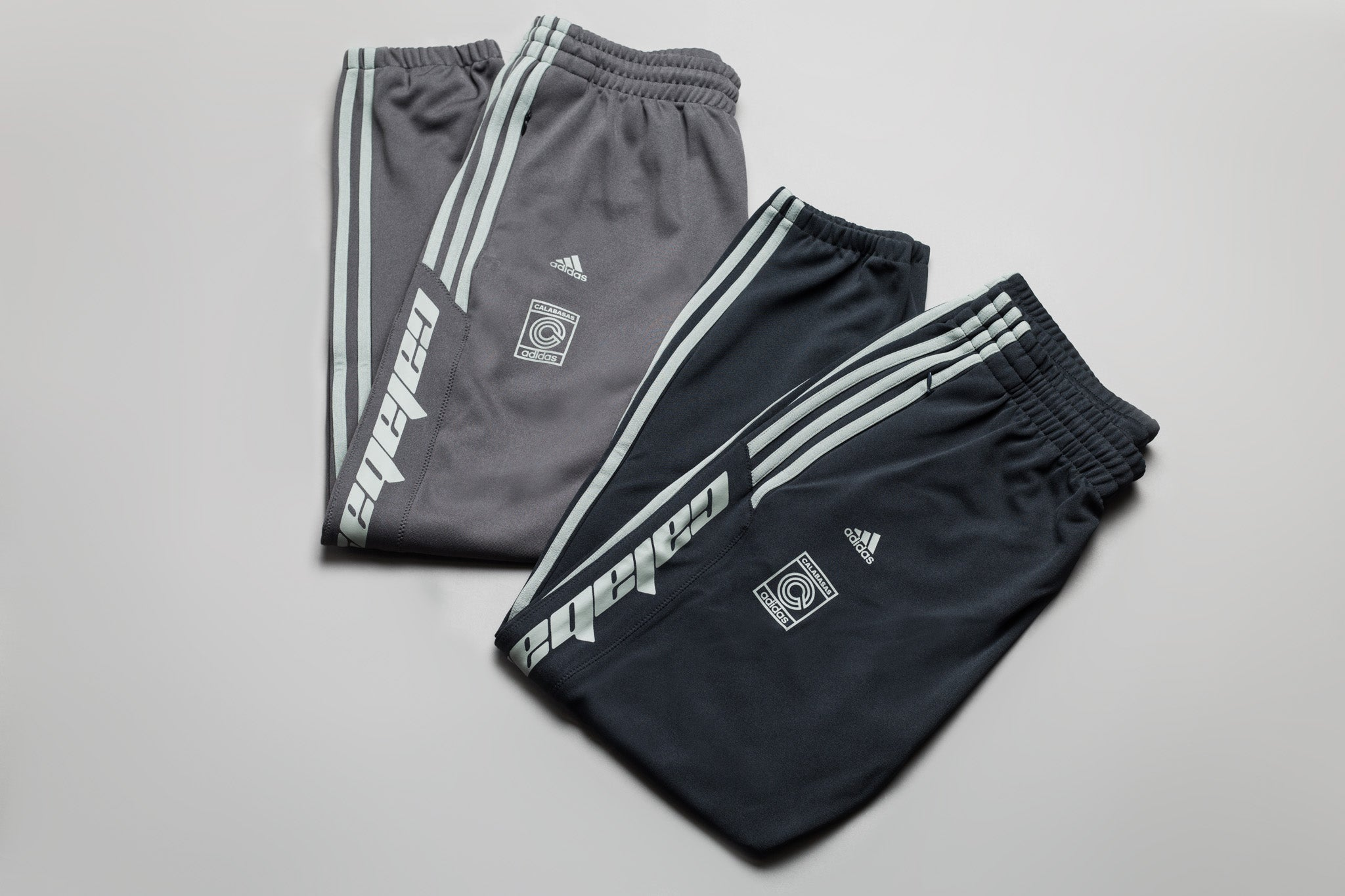 f81f1fc5 Kanye West and Adidas' Calabasas Track Pants return in two new colourways to  match with the upcoming Yeezy 700 on the horizon. The Calabasas Pants are  made ...