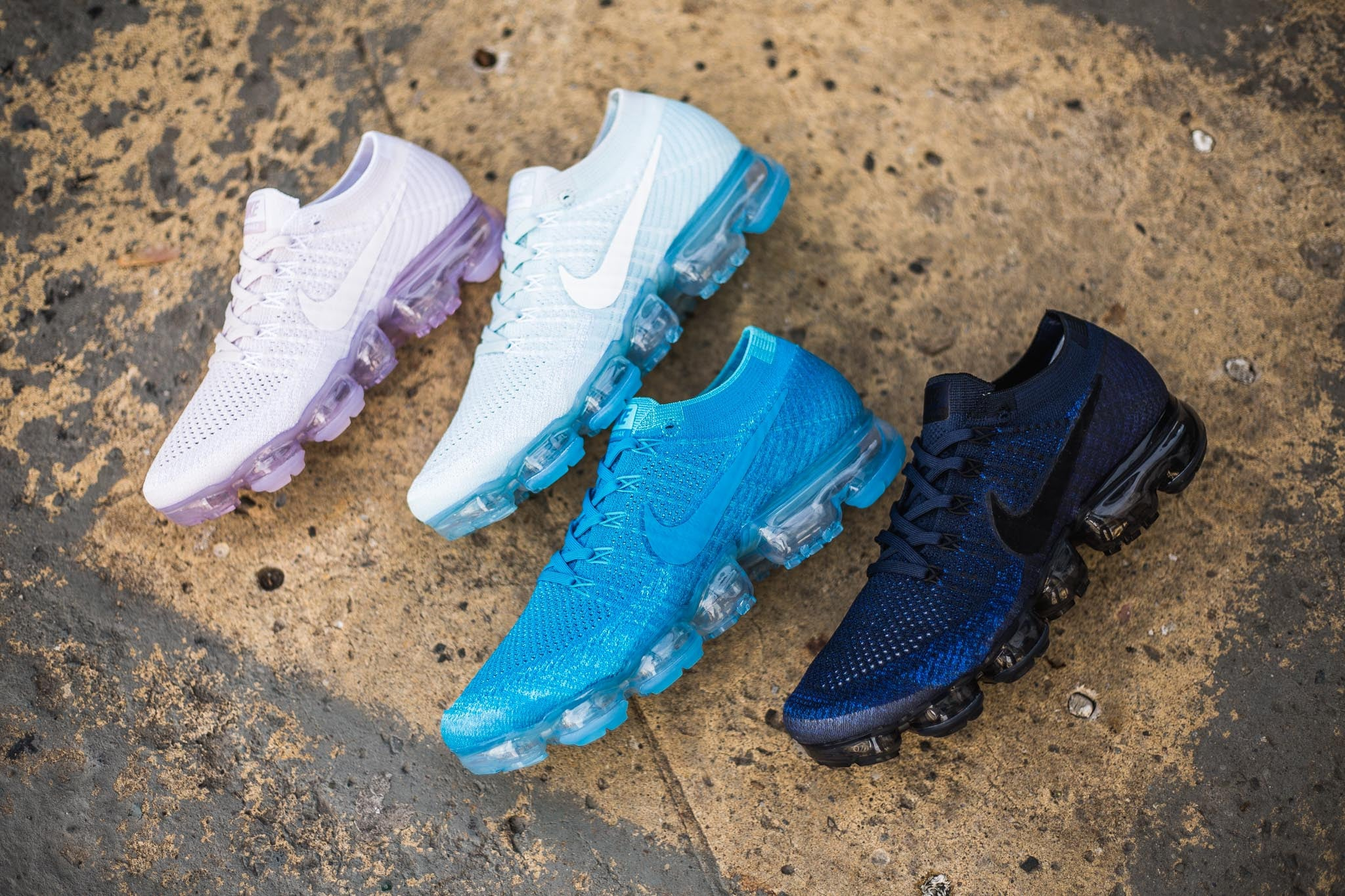 """f8f239ea7a30d Nike's """"Day To Night"""" Collection paints the new addition to the Air Max  family tree with sky hues ranging from dusk till dawn. Each pair is  produced with a ..."""