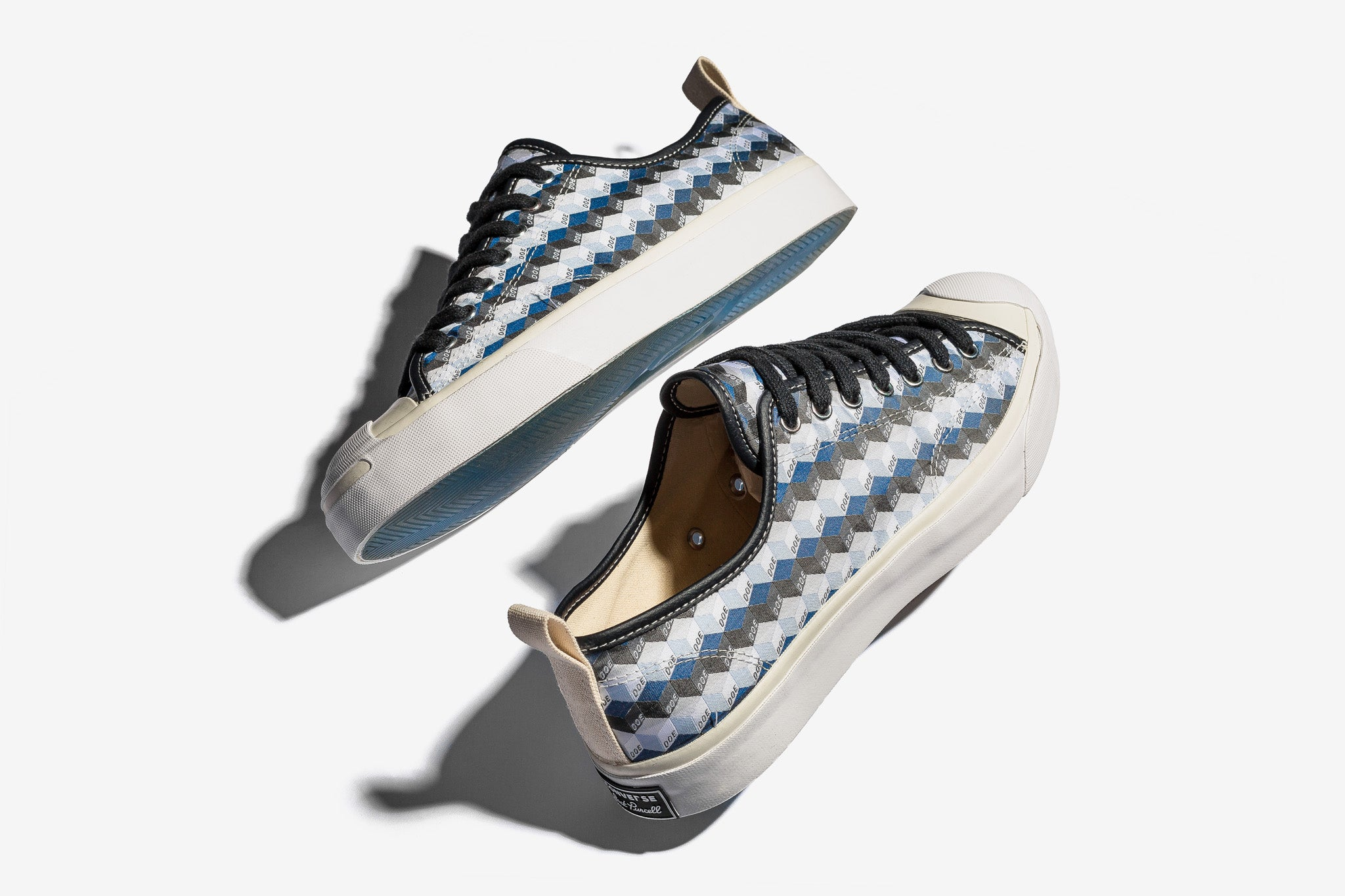 hot sale online 31cd9 802a4 Shanghai boutique DOE collaborates with Converse to bring us a fresh  rendition of the Jack Purcell OX with a striking similarity to Goyard s  monogram ...