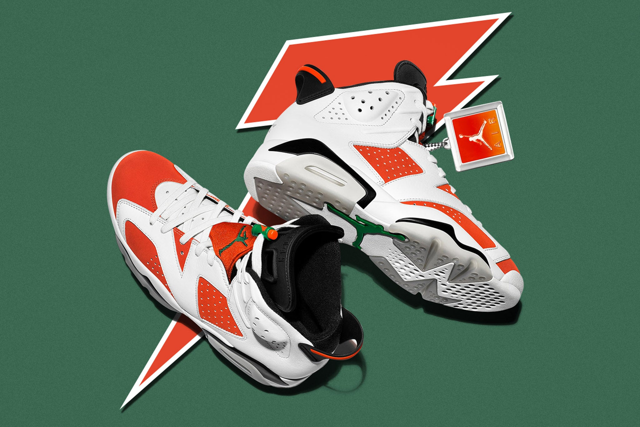 """new product 331ea ab693 As a tribute to the Gatorade """"Like Mike"""" commercial, the Jumpman drops the  sixth addition in the Jumpman legacy with orange nubuck uppers and tumbled  white ..."""