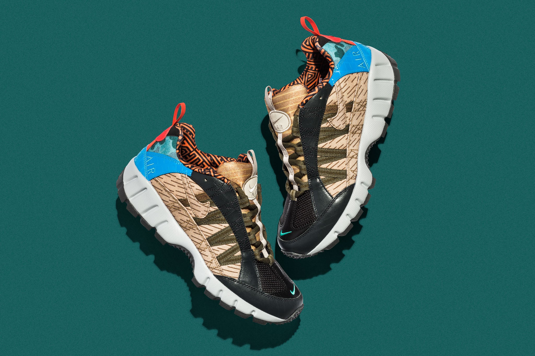cc7fe8207889 The Nike Air Humara  17 Premium mixes and matches different patterns and  overlays made from canvas
