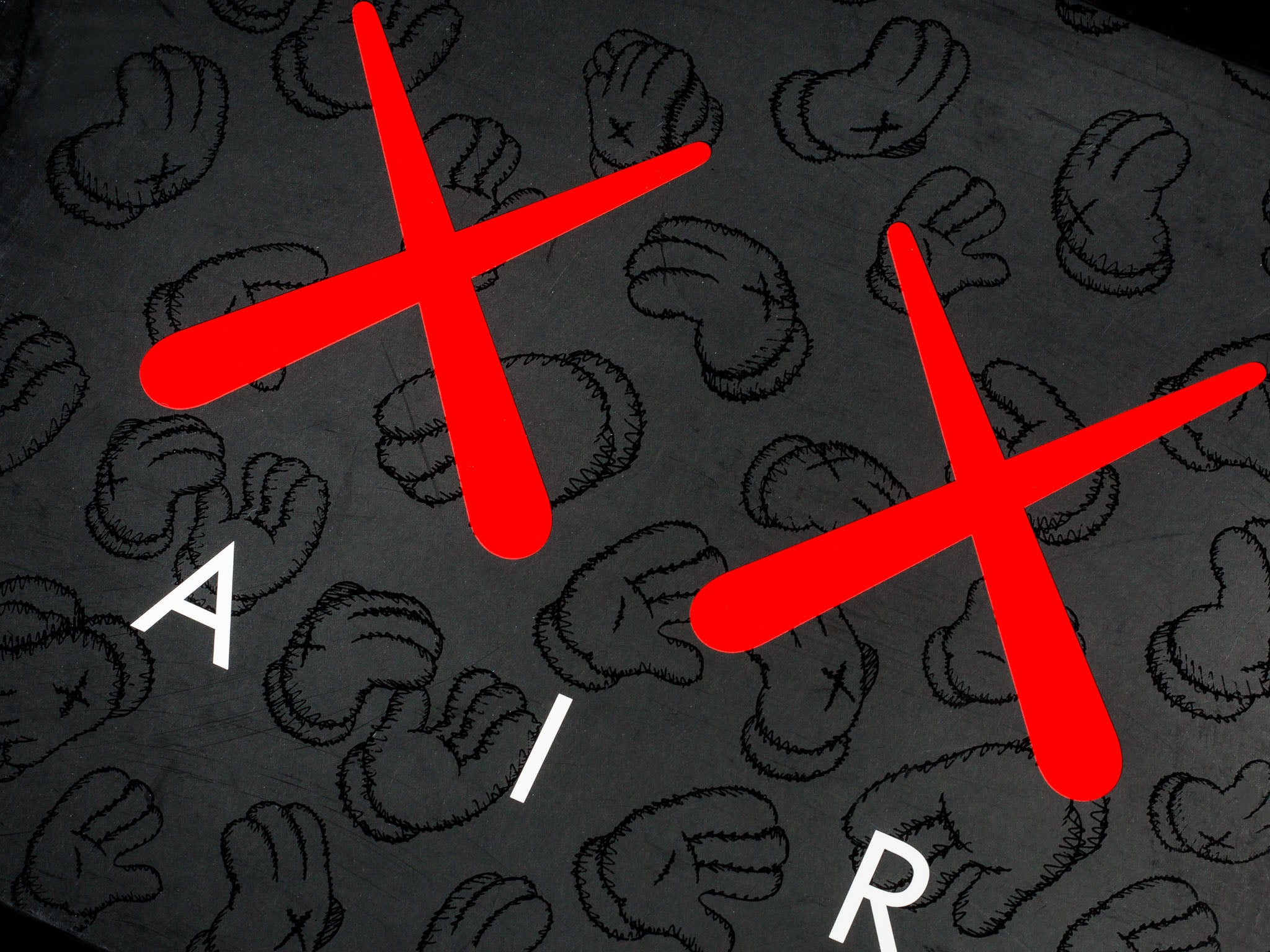 Jordan X Kaws on comme des garcons wallpaper