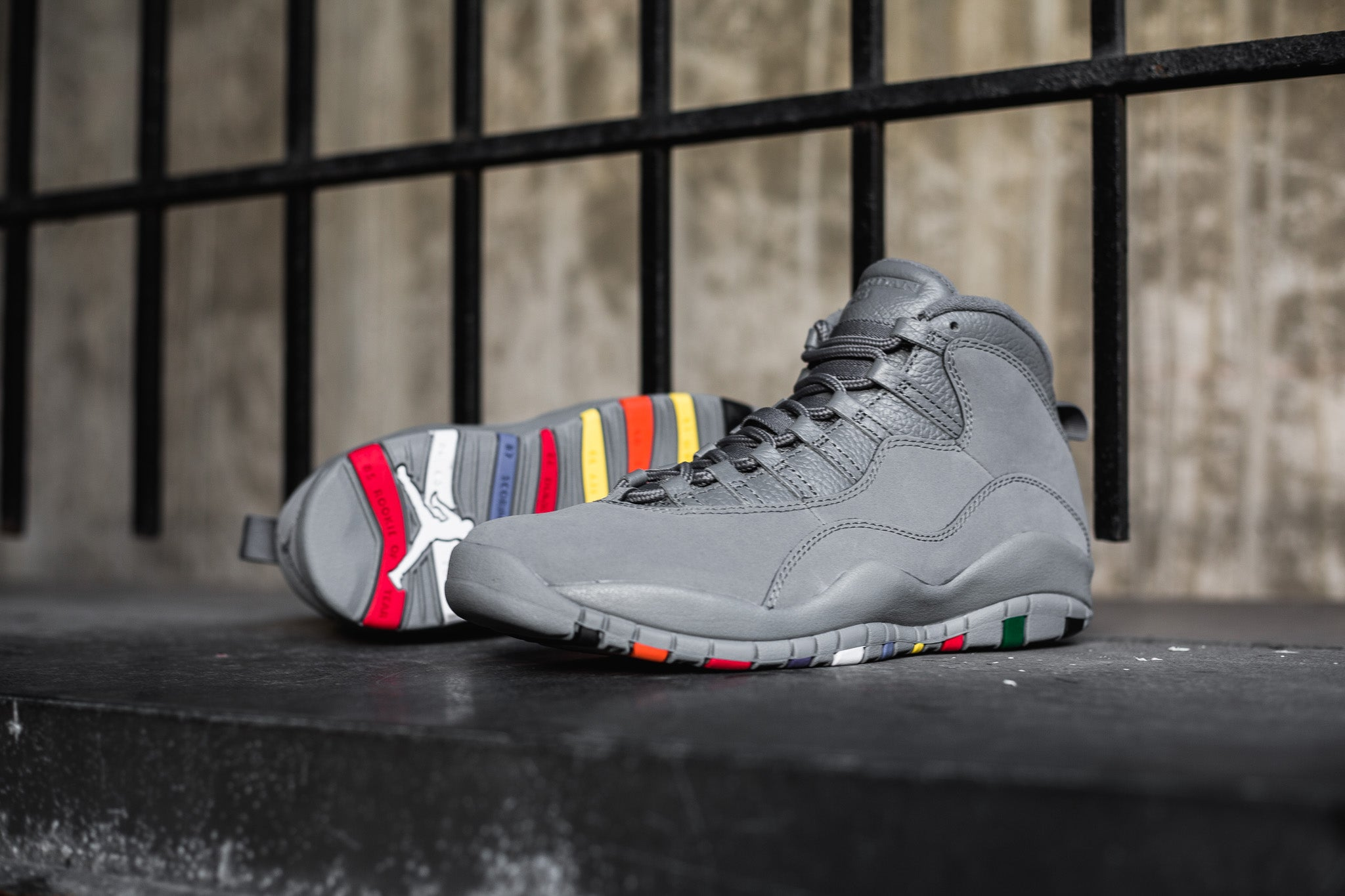 wholesale dealer 70eea d0480 ... get the air jordan 10 retro cool grey borrows the familiar colour  combination with a colourful