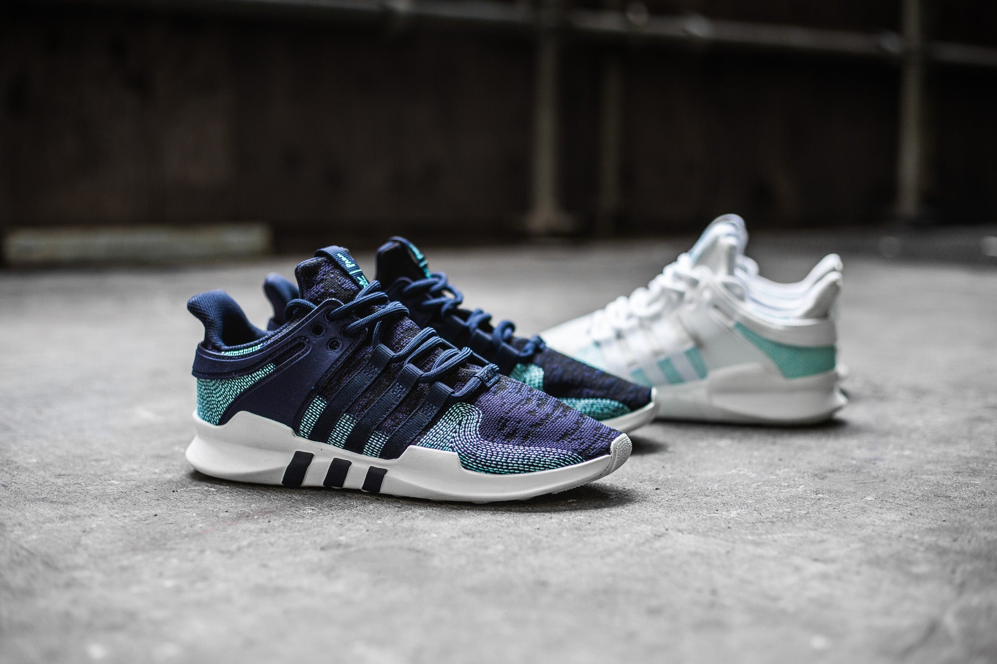 brand new 4d866 e4149 In support of Parley for the Oceans, adidas releases another ocean-themed  colourway for the EQT Support ADV. Both pairs swap out the mesh for the  parley ...