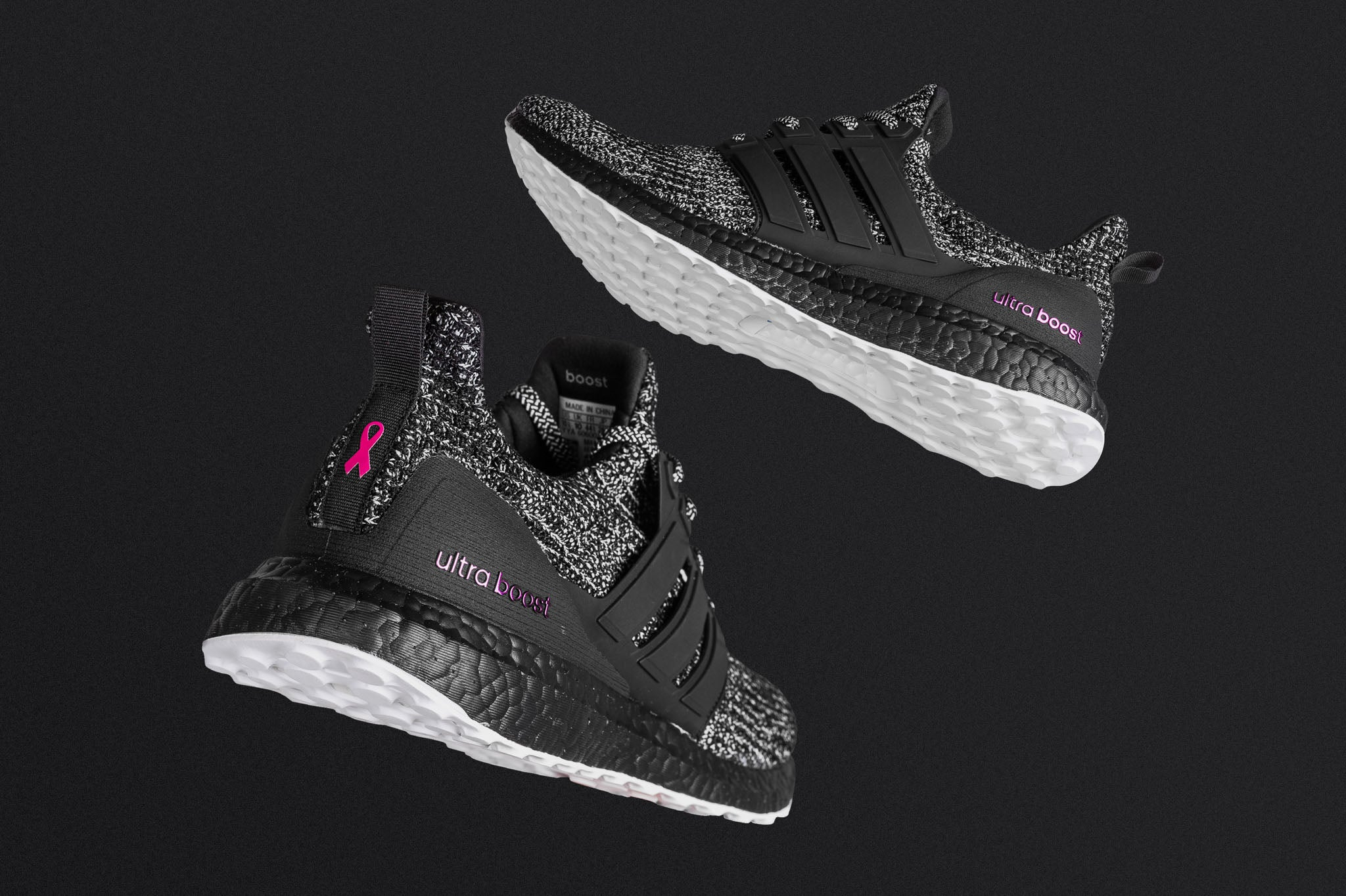 "brand new 428e7 06207 Adidas does it again with sneaker tributes for a noble cause using their  most beloved runner yet. The adidas Ultraboost ""Brest Cancer Awareness""  sports a ..."