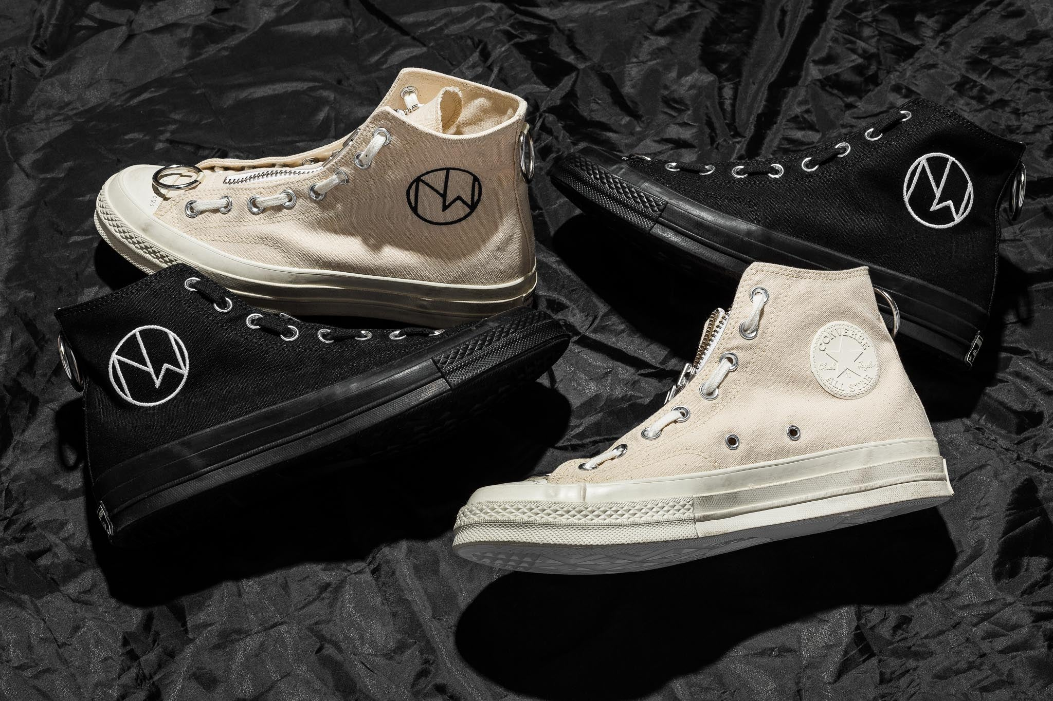 "0247c9cb45a5 Jun Takahashi s Undercover brings the  79 turf war to the Converse Chuck  Taylor Hi with hardware mods and weathering inspired by the gang war film  classic "" ..."