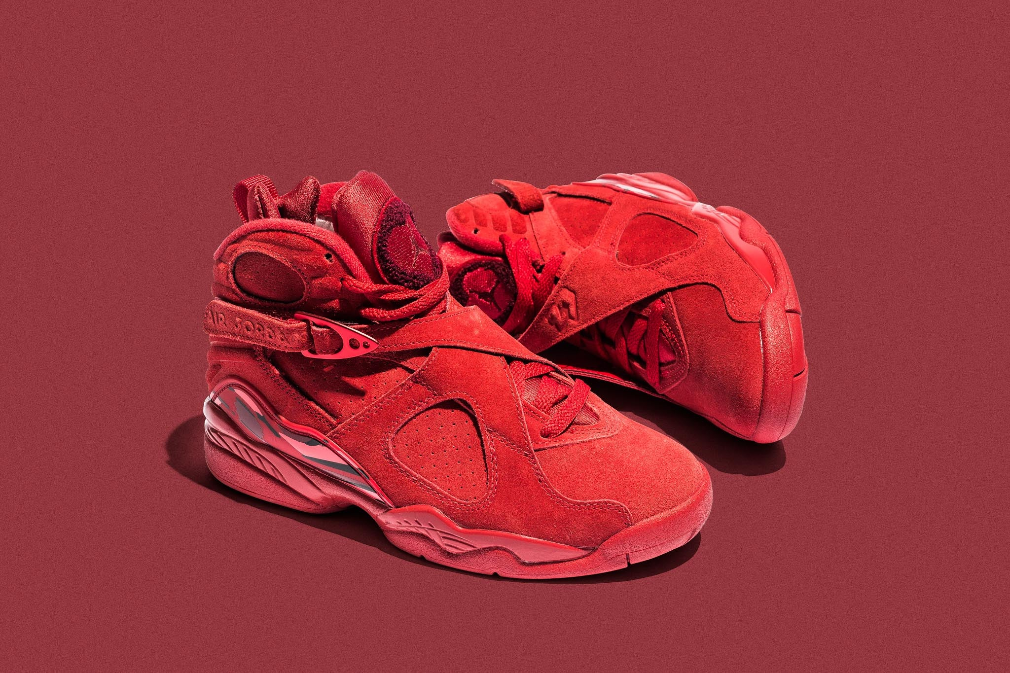 "f72e334e1b2 The WMNS Air Jordan 8 Retro ""Valentine's Day"" makes the perfect valentines  gift if you're still wondering what grab this February 14th."