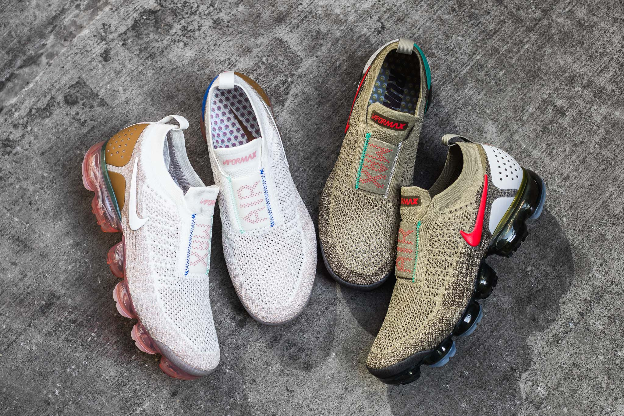 f5fa000366 The Nike Air VaporMax FK Moc 2 Collection arrives with two new colourways  to refresh your rotation. The Air VaporMax FK Moc 2 removes the lacing for  the ...