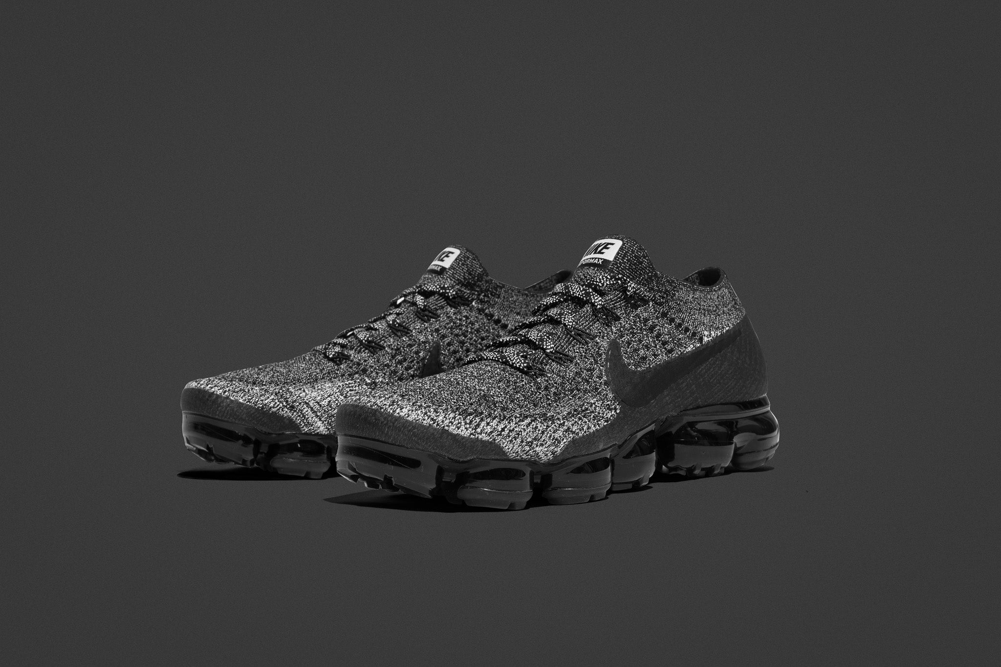 cd06dc60b5 ... the nike air vapormax flyknit oreo 2.0 shows off a cookies and cream  colourway with blacked