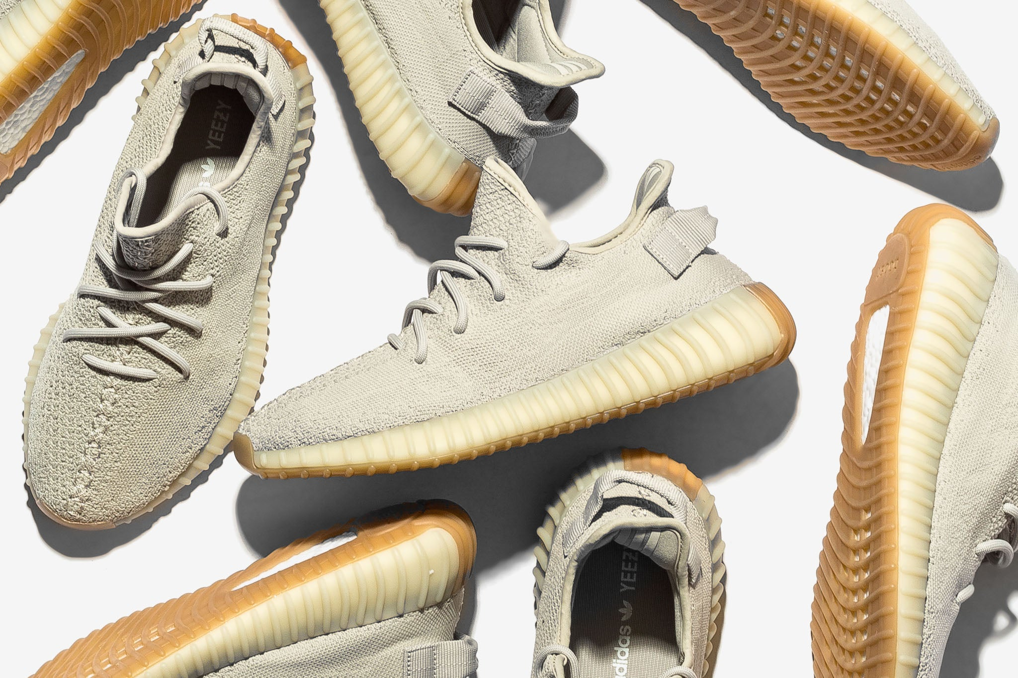 "13a7894f5565a The Yeezy Boost 350 v2 returns in a light tan colourway dubbed ""Sesame""  with a tan and gum outsole. Get ready to rock these boost-bolstered kicks  with the ..."