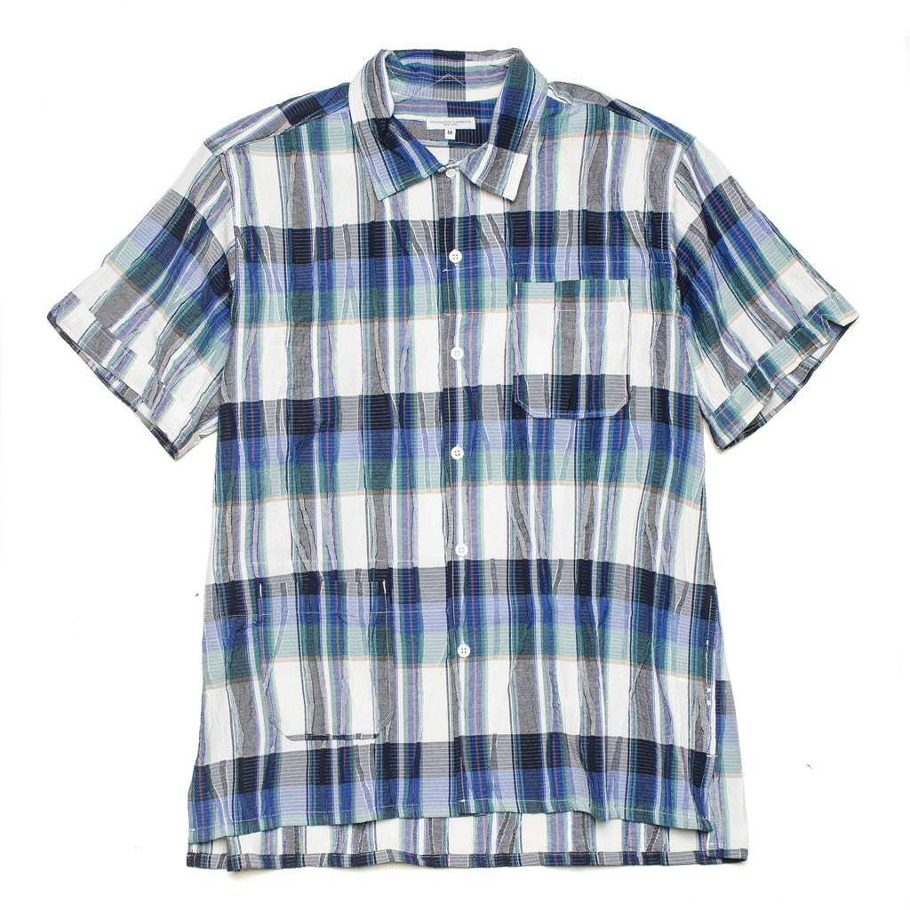 Camp Shirt Cotton Crepe Check 20S1A004 KT009 Navy