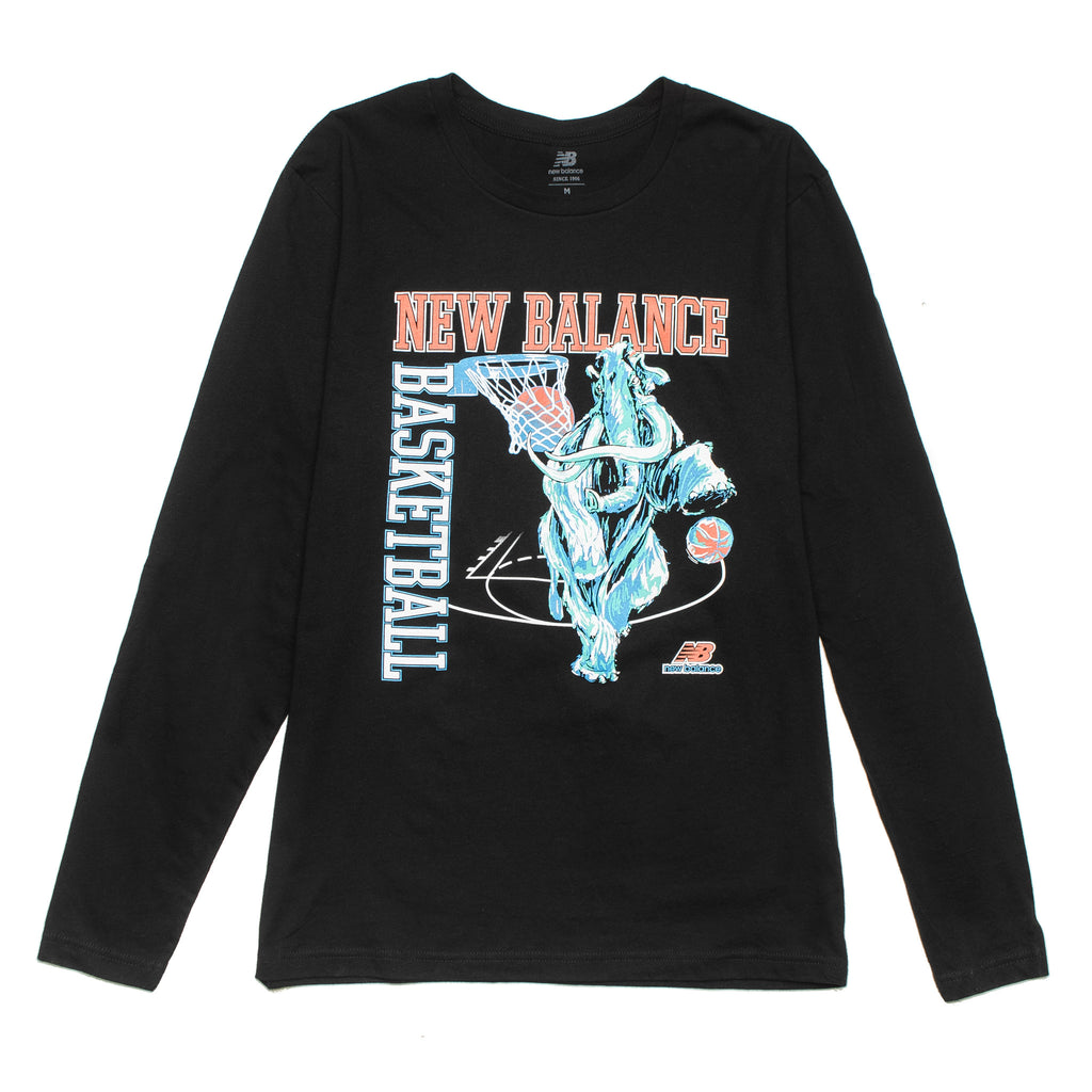 NB Hoops Mammoth LS Tee MT01672 Black