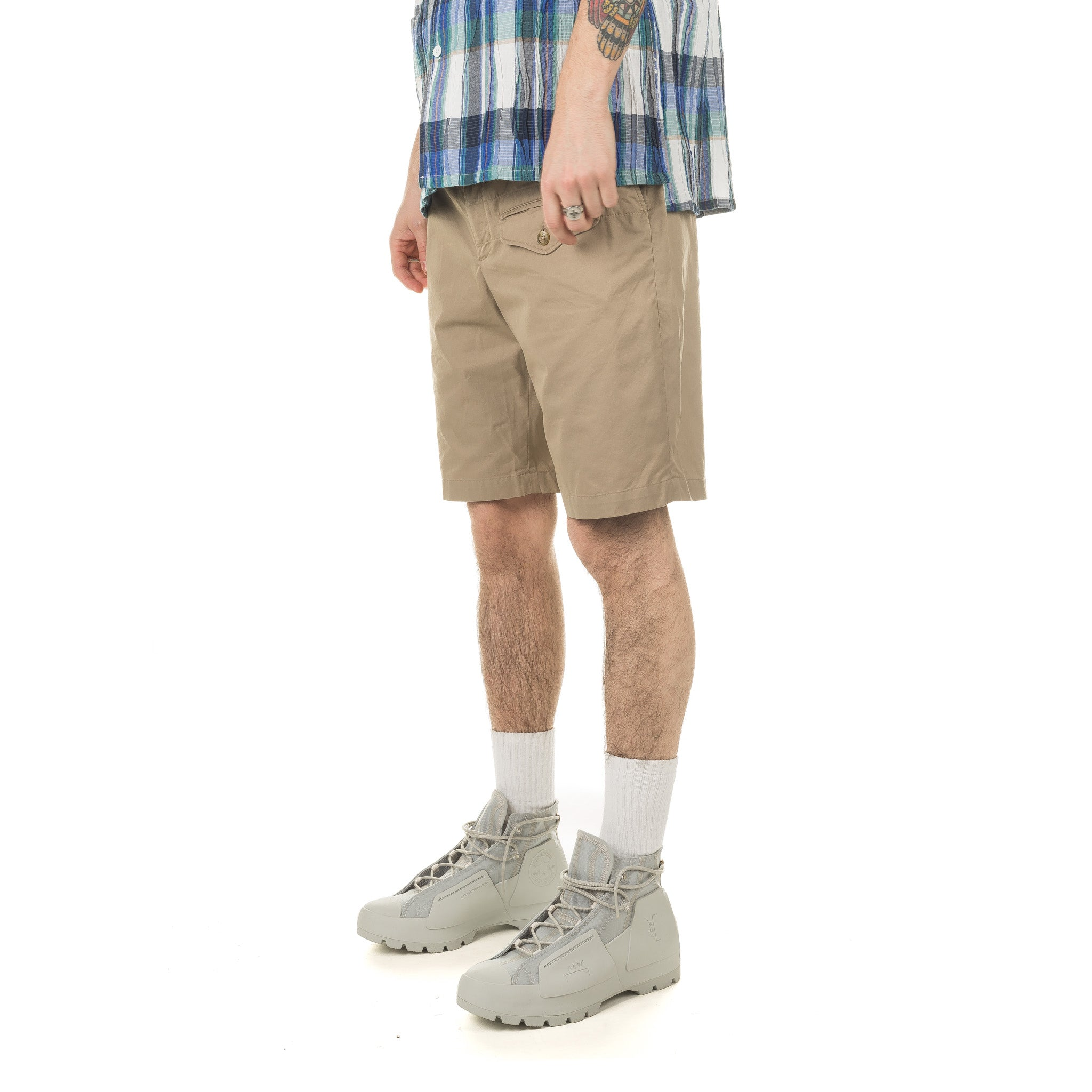 Ghurka Short Highcount Twill 20S1E002 PB001 Khaki