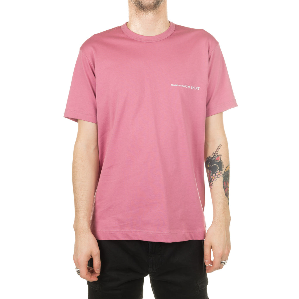 CDG Shirt SS Logo Tee Colour S28121 Pink