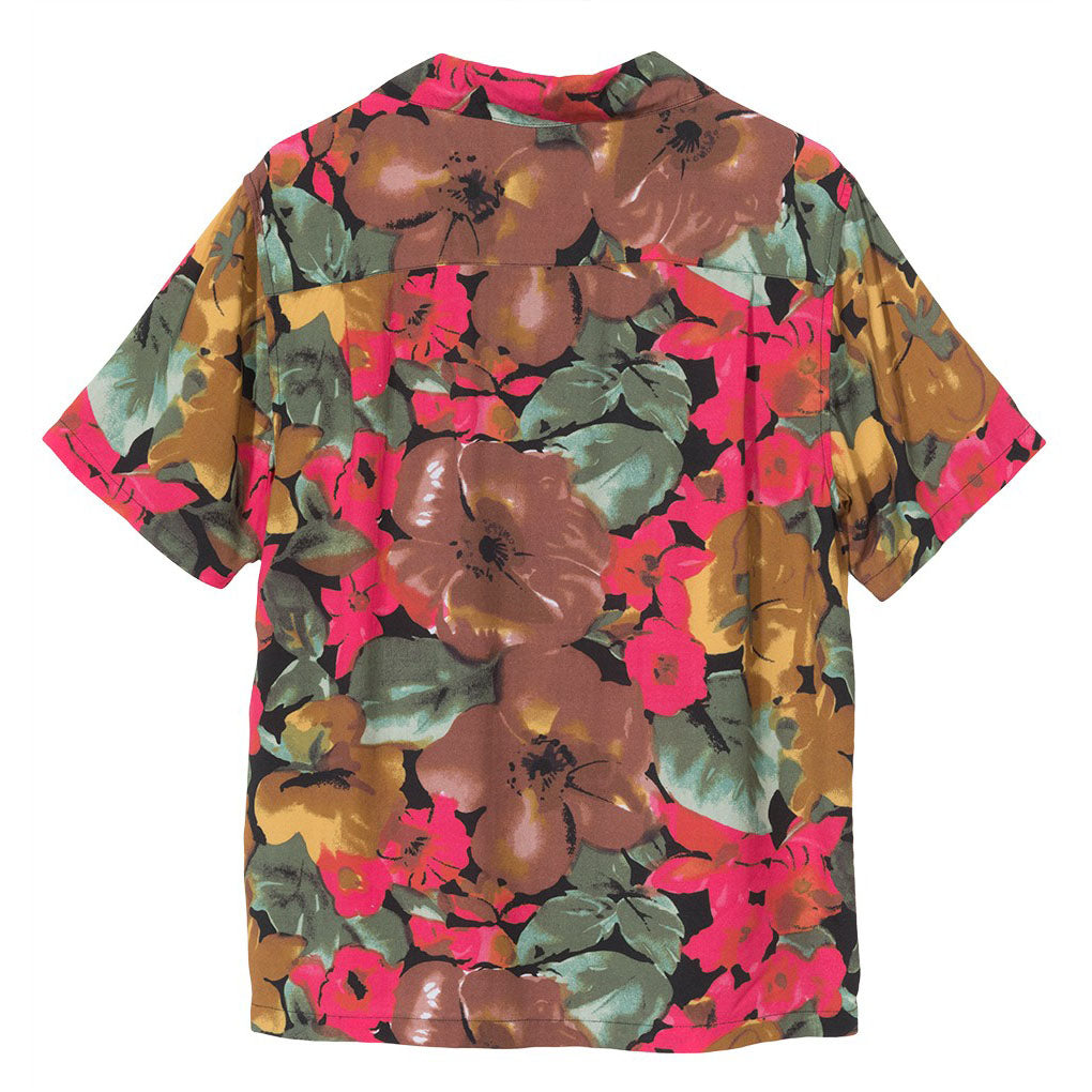 Watercolor Flower Shirt 1110023 Black
