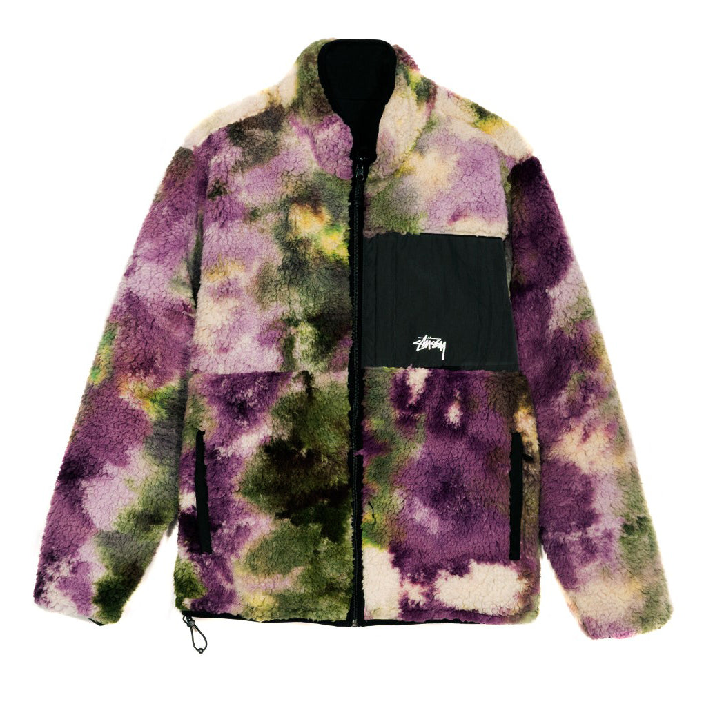 Reversed Micro Fleece Jacket Tie Dye